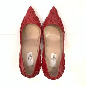 Valentino Shoes - VALENTINO Red Pointed Toe Heels Sz 39.5